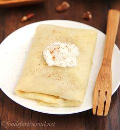 Pumpkin Pie Crepes Recipe - RecipeChart.com #Dessert #Snack