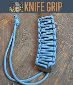 Paracord Projects | Knife Handle with Instructions #DIYready | diyready.com | Best DIY Paracord Projects