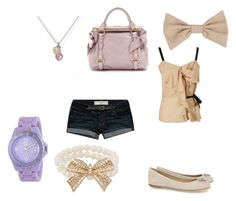 """""""178. bows"""" by paigemcpolintwxo ❤ liked on Polyvore featuring Giuseppe Zanotti, Abercrombie & Fitch, See by Chloé, Judith Ripka, Roxy, Miu Miu, Forever 21 and American Apparel"""