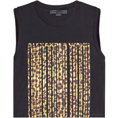 Alexander Wang Printed Cotton Tank (1321675 PYG) ❤ liked on Polyvore featuring tops, multicolored, sleeveless cotton tops, sleeveless tops, cotton tank, alexander wang top and leopard print sleeveless top