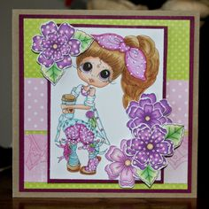 Besties image by Sherri Baldy digital flowers by Fred She Said Card by Cheryl Moody