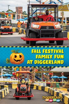 Our Fall Festival is officially underway! We have plenty of family fun including carnival games, hayrides, bonfires and more. The best part is it's all included with weekend admission. Get your family out of the house and come experience over 40+ rides and attractions at the only construction theme & water park in the US. Carnival Rides, Construction Theme, Bonfires, Family Outing, Pumpkin Decorating, Live Music, Special Events, Fall Decor, This Is Us