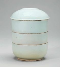 A white porcelain tiered box and cover, Joseon Dynasty, 18th century. Photo Christie's Image Ltd 2016