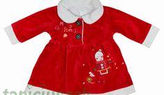 Sukienka z pluszu na święta 0 - 3 m-ce http://dzieciociuszek.pl/products/28602