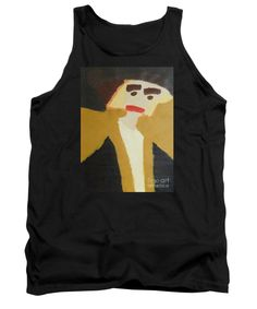 Patrick Francis Black Designer Tank Top featuring the painting The Graduate by Patrick Francis