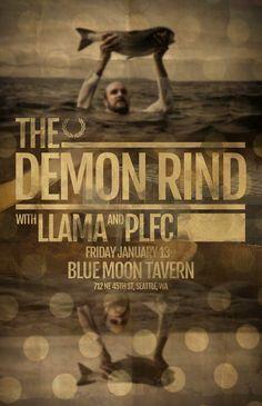 1/13/17 : The Demon Rind . Llama . PLFC @ The Moon