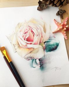 "3,988 Likes, 16 Comments - Watercolor illustrations (@watercolor.illustrations) on Instagram: "" Watercolorist: @_olgamelikhova_ #waterblog #акварель #aquarelle #drawing #art #artist #artwork…"""