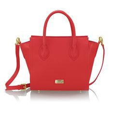 LUCILLA cherry leather bag