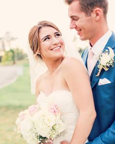 That look of love | David's Bridal bride Allie in a sweetheart wedding dress