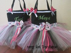 Too cute! Dance bags :) I wish I had one growing up