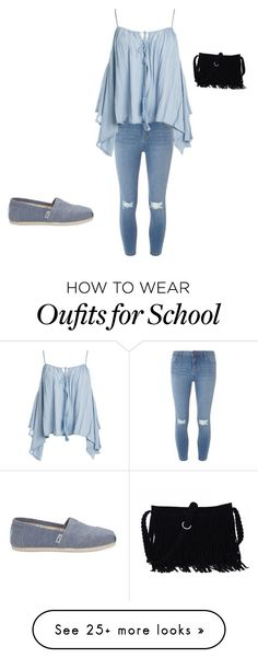 """""""Time for school"""" by zshow on Polyvore featuring Dorothy Perkins, Sans Souci and TOMS"""