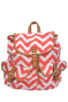 Coco & Simone - Canvas Chevron Backpack