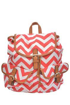 Coco & Simone - Canvas Chevron Backpack