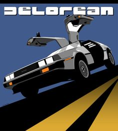 Classic DeLorean  This is related to graphics because this could represent some sort of advertisement. I like it because DELOREAN!!!!