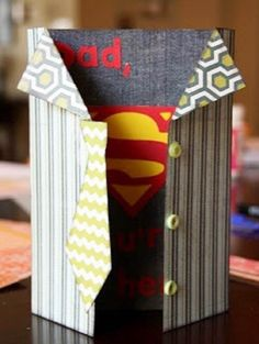 Father's Day 2014 Sperman Super Hero Greeting Card Gifts for DAD