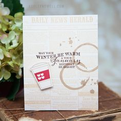 January Birthday Card by Ashley Cannon Newell for Papertrey Ink (December 2014)