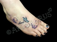 Girly Foot Tattoo Design
