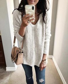 c1d33684736 Solid Vintage Long Sleeve Hoodie V Neck Warm Sweatershirt Cheap Fashion
