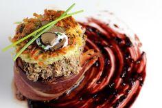 filet mignon, bordelaise reduction, potato cake