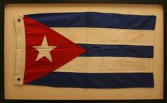 """Fidel Castro & Che Guevara Signed Pre-R: """"We will only stop this fight when our flag waves free and sovereign"""" (in Spanish), signing 'Che' below.evolution Cuban Flag"""