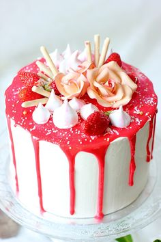 Layer Cake Decorating A La Rose