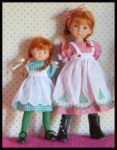 une little Darling et une Boneka Clementine et Dorothy (Dawn ) Ag Dolls, Cute Dolls, Girl Dolls, Bjd, Pinafore Apron, Fancy Nancy, Flower Girl Dresses, Doll Dresses, Bear Doll