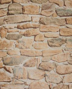 vlies tapete mauer stein shabby chic landhausstil bruchstein ... - Steintapete Beige Wohnzimmer