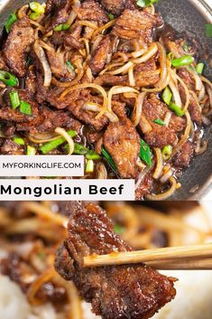 weeknight dinner This mongolian beef recipe is easy and delicious. Its the perfect quick and easy weeknight dinner. Easy Mongolian Beef, Mongolian Beef Recipes, Mongolian Beef And Broccoli Recipe, Quick Dinner Recipes, Quick Easy Meals, Quick Beef Recipes, Asian Recipes, Chinese Beef Recipes, Keto Recipes