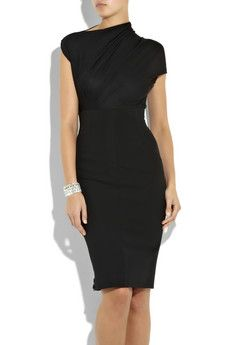 Stretch Jersey Draped Dress