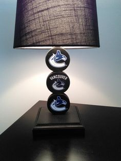 Vancouver Canucks Hockey Puck Lamp By PuckinCrazyLamps Leo Man