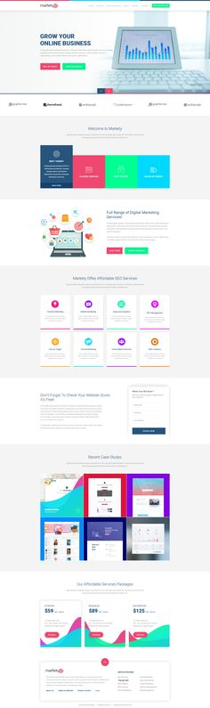 Home Ux Design, Design Elements, Beautiful Website Design, Seo Digital Marketing, Pricing Table, Web Design Inspiration, Design Ideas, Best Templates, Mobile Design
