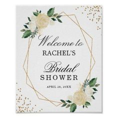 48d3a08eb6d Bridal Shower Sign Greenery Gold Glitters Floral - baby gifts giftidea diy  unique cute