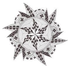Zentangle made by Mariska den Boer 137