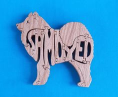 Samoyed Dog Breed Wooden Scroll Saw Puzzle by huebysscrollsawart, $9.00