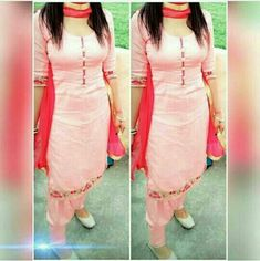 Pin by anjali chawla on Suits in 2019 Salwar Suit Neck Designs, Neck Designs For Suits, Kurta Designs Women, Dress Neck Designs, Salwar Designs, Blouse Designs, Designer Punjabi Suits, Indian Designer Wear, Casual College Outfits