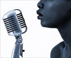 jazz singer sings into microphone. #microphone #mics http://www.pinterest.com/TheHitman14/headphones-microphones-%2B/
