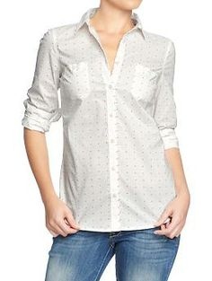 Everyone needs a couple different button downs. Love the dots, takes the classic and adds a touch of trendy.