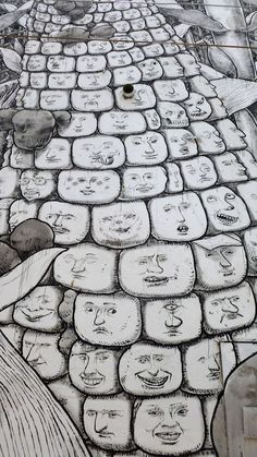Street Art Symbolizing Mexico's Strong Family Bonds - My Modern Metropolis Murals Street Art, Graffiti Murals, Art Mural, Street Art Graffiti, Street Installation, Chalk Art, Street Artists, Famous Artists, Public Art