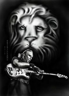 Billy Sheehan, My Drawings, Bass, How To Draw Hands, Singing, My Arts, Statue, Music, Illustration