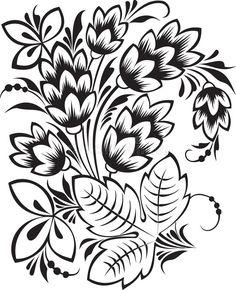 Folk Embroidery, Embroidery Patterns, Embroidery Dress, Russian Painting, Russian Folk, Black Tattoos, Art Lessons, Illustration, Folk Art
