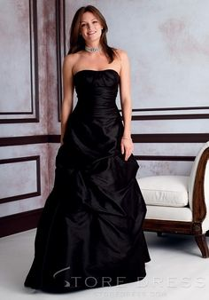 Gorgeous Bowknot A-Line Knee-length Strapless Bridesmaid Dress at Storedress.com