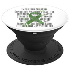Empowered and Strong Green Awareness Ribbon - PopSockets Grip and Stand for Phones and Tablets Live Casino, Awareness Ribbons, Slot, Phones, Strong, Amazon, Green, Amazons, Riding Habit