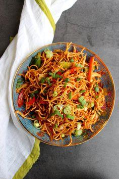 Chinese Bhel | Zheelicious Garlic Noodles, Chinese Bhel, Maggi Sauce, Bhel Recipe, Schezwan Sauce, Sweet And Spicy Sauce, Chocolate Chip Bars, Pull Apart Bread