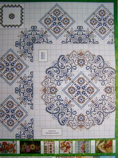 Cross stitch Ukrainian Embroidery Pattern Tablecloth Napkin Vyshyvanka 10 uz