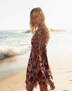 @katie.fitzsimmons in the Saffron Mini Dress