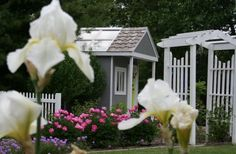 Between Naps on the Porch   Build a Garden Shed From a Child's Play Gym Set   http://betweennapsontheporch.net