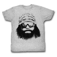 Mens Randy Macho Man Savage Machoface Tee Shirt