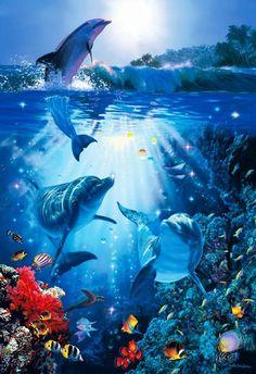 ラッセン Christian Lassen [ドルフィン イン ザ サン] Dolphin in the Sun