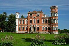 Bīriņi Palace build in 1860.  In Vidzeme region
