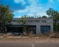 A fine art photo of the Guyton Motor Co. in McLean, Texas. Mclean Texas, Roadside Attractions, Fine Art Photo, Gas Station, Ghost Towns, The Good Old Days, Abandoned Places, Small Towns, Decay